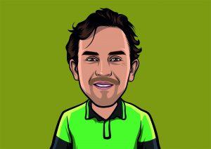 Alex the Arborist Cartoon Image